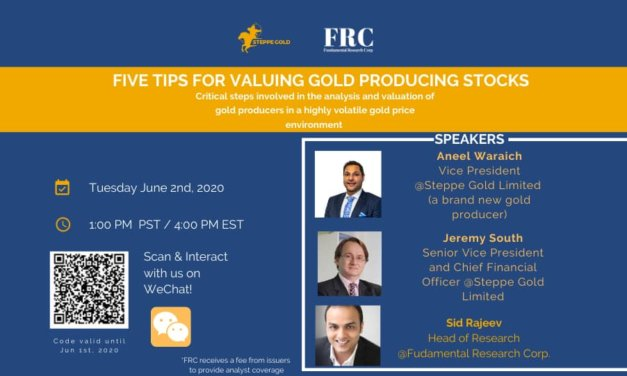 Webinar: Five Tips for Valuing Gold Producers
