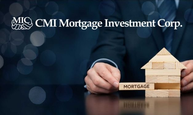 CMI Mortgage Investment Corporation – Targeting a Yield of 8.95% p.a. in 2020